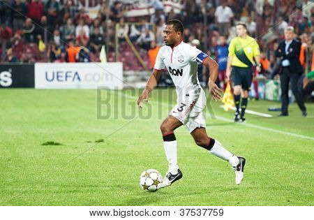 CLUJ-NAPOCA, ROMANIA - OCTOBER 2: Evra in UEFA Champions League match between CFR 1907 Cluj and Manchester United, Dr. C. Radulescu Stadium, Cluj-napoca, on 2 Oct., 2012 in Cluj-Napoca, Romania