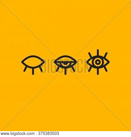 Closed And Open Eyes, Insight Of Creative Line Icon