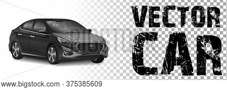 Istanbul - August 09, 2018: Vector Editorial Illustration Of Hyundai Solaris Car Accent Model With A