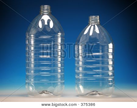 transparent plastic bottles poster