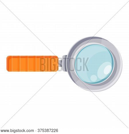 Magnifier Glass Icon. Cartoon Of Magnifier Glass Vector Icon For Web Design Isolated On White Backgr