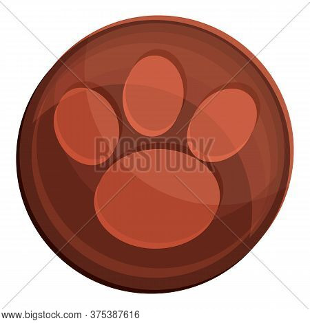 Dog Paw Icon. Cartoon Of Dog Paw Vector Icon For Web Design Isolated On White Background
