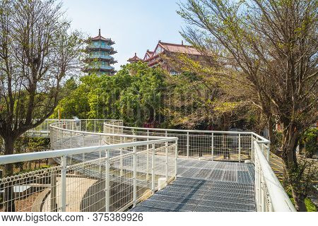 Baguashan Skywalk And Bagua Pagoda In Changhua, Taiwan