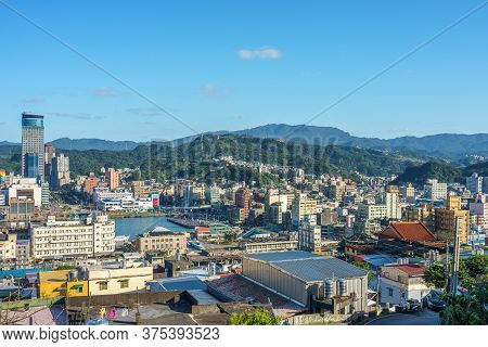 Cityscape Of Keelung Harbor And City In Taiwan