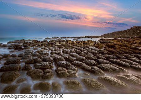 Bean Curd Rock In Hoping Island, Keelung, Taiwan