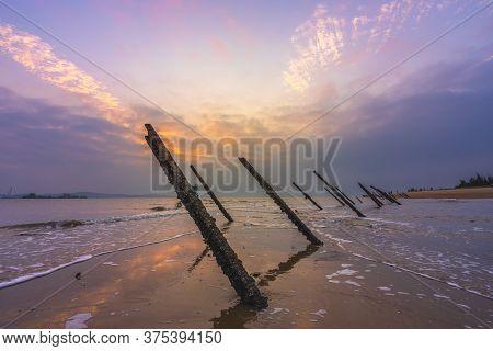 Anti-landing Spikes On The Beach Of Kinmen, Taiwan