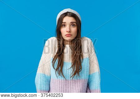 Shrugging Uanware And Confused Silly Young Woman Acting Like Dont Know Anything, Unaware, Shrugging