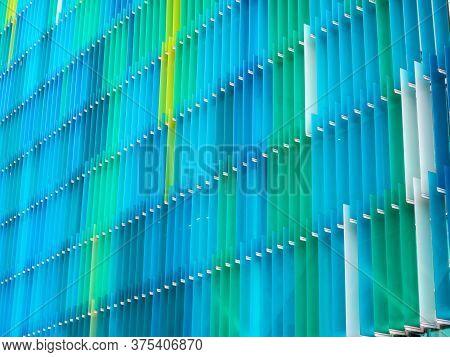 Acrylic Plastic Sheet Interior Level And Color Yellow Blue Aqua