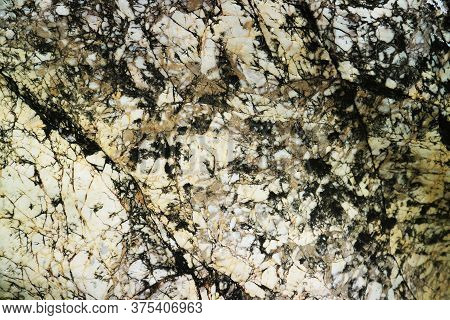 Damage Rust Copper Granite Rock Surface Of Cave For Interior Wallpaper