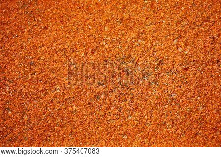 Light Orange And Light Copper Color Of Ancient Laterite Wall