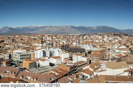 Views Of The City Of Colmenar Viejo, Madrid, Spain, From The Belltower Of The Basilica Of La Asuncio