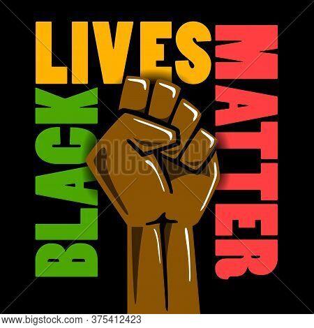 Black Lives Matters. Social Poster, Banner. Stop Racism Police Violence. I Can't Breathe. Flat Illus