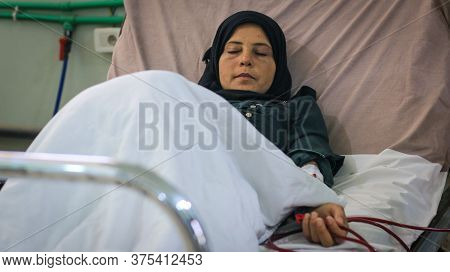 A Girl Undergoes Hemodialysis Sessions In Hospital
