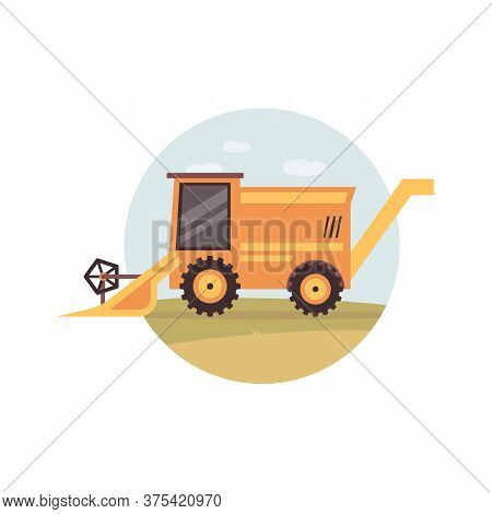 Agricultural Machinery For Hay Planting Flat Vector Illustration Isolated.