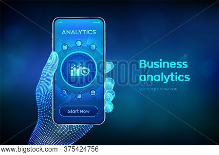 Business Data Analytics And Robotic Process Automation Concept. Profit And Revenue Of Company, Bi Or