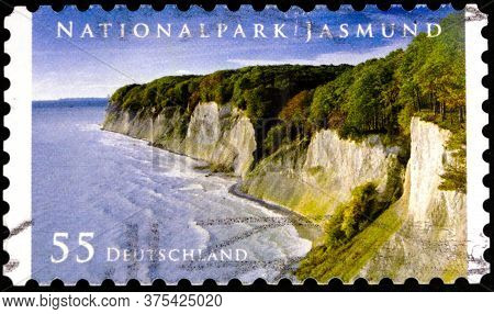 02 08 2020 Divnoe Stavropol Territory Russia The Postage Stamp Germany 2012 Jasmund National Park Co