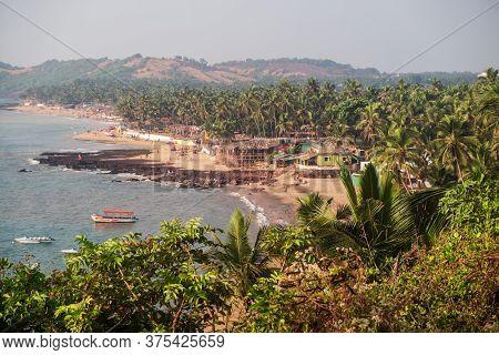 Beaches And Nature Of Northern Goa, Anjuna Beach From Hills