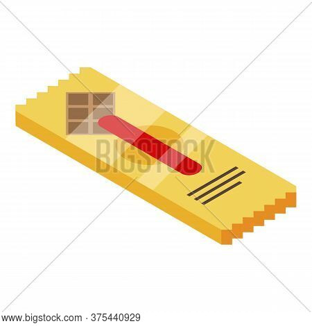 Chocolate Stick Icon. Isometric Of Chocolate Stick Vector Icon For Web Design Isolated On White Back