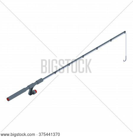 Sport Fishing Rod Icon. Isometric Of Sport Fishing Rod Vector Icon For Web Design Isolated On White