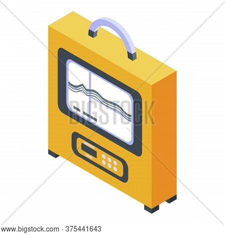 Echo Sounder Device Icon. Isometric Of Echo Sounder Device Vector Icon For Web Design Isolated On Wh