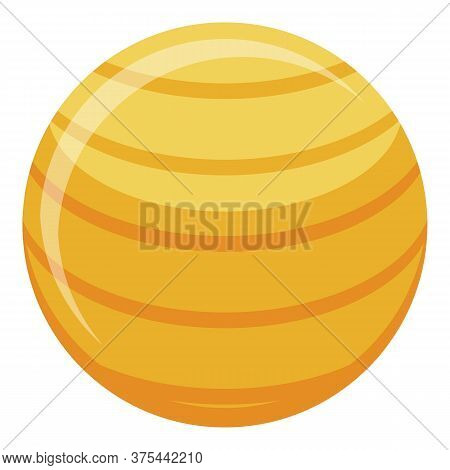 Fitness Ball Icon. Isometric Of Fitness Ball Vector Icon For Web Design Isolated On White Background