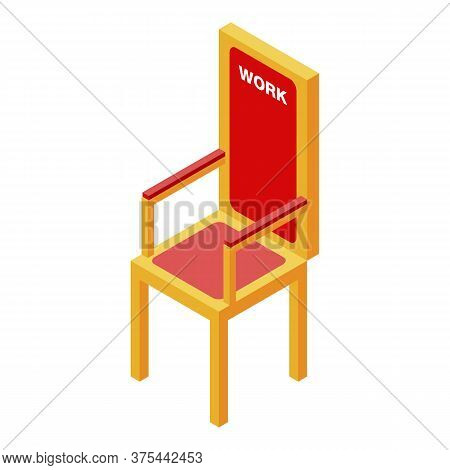 Free Work Place Chair Icon. Isometric Of Free Work Place Chair Vector Icon For Web Design Isolated O