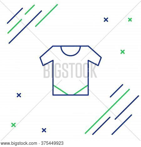 Line Baby Onesie Icon Isolated On White Background. Baby Clothes Symbol. Kid Wear Sign. Colorful Out