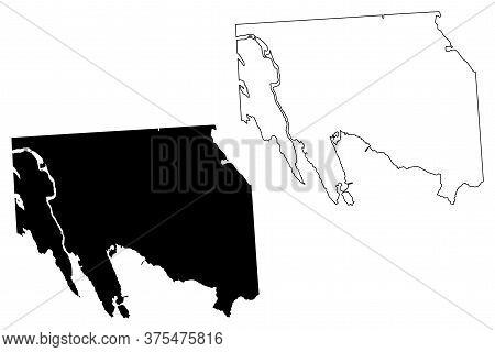 Iqaluit City (canada, Nunavut Territory) Map Vector Illustration, Scribble Sketch City Of Frobisher