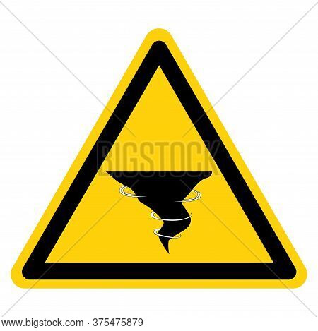 Warning Tornado Shelter Symbol Sign, Vector Illustration, Isolate On White Background Label .eps10