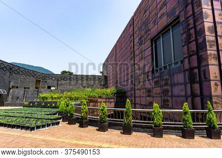 Gimhae, South Korea - June 18, 2017 : Gimhae National Museum Main Building At Gimhae, South Gyeongsa