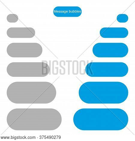 Bubble Message Design Template For Chat Or Website. Chat Interface. Empty Chat Bubbles With Place Fo