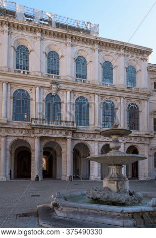 Palazzo Barberini Ancient Palace, A Papal Residence Of The Baroque Period, Famous For False Perspect
