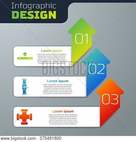 Set Industry Pipe And Manometer, Industry Pipe And Valve And Industry Metallic Pipe. Business Infogr