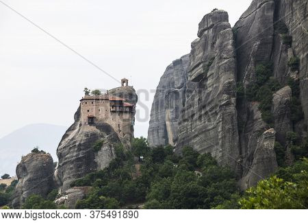 The Holy Monastery Of St. Nicholas Anapausas By Esox Hunter. Meteora Monastery In Greece.
