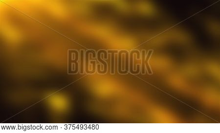 Computer Generated A Gold Blur Background. 3d Rendering Of Defocused Wavy Spots