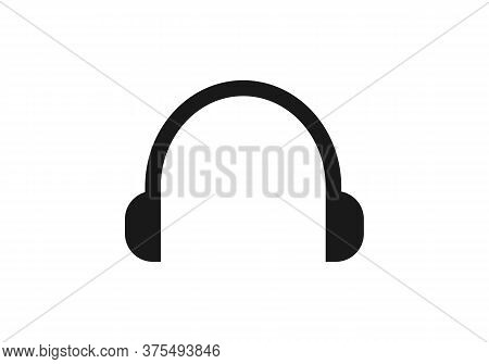 Headphone Icon On White Background. Flat Style. Headphone Headset Icon For Your Web Site Design