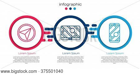 Set Line Infographic Of City Map Navigation, City Map Navigation And City Map Navigation. Business I