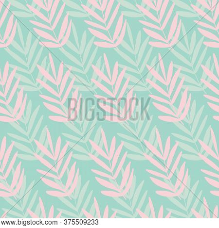 Seamless Palm Leaf Leaves Texture Pattern. Stylish Repeating Texture. Trendy. Botanical Beach Patter