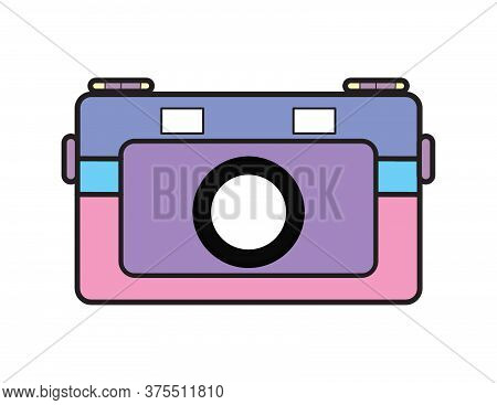 Whimsical Flat Illustration Camera
