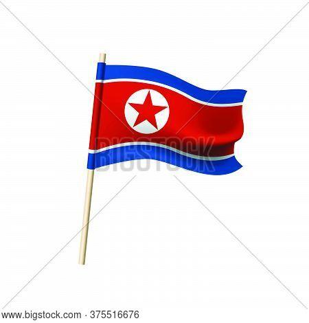 Democratic People's Republic Of Korea Flag. Vector Illustration