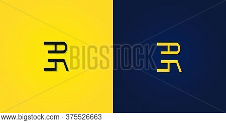 Minimalist Abstract Initial Letter Er Logo. This Logo Incorporate With Abstract Letter In The Creati