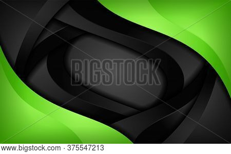 Modern Dark And Colorful Green Abstract Sharp Vector Background Images.