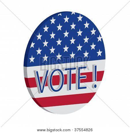 Vector of Vote! button