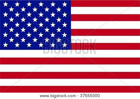 Vector de la bandera de Estados Unidos