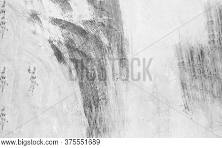 Old Wall Texture Cement Dirty Gray With Black  Background Abstract Grey And Silver Color Design Are