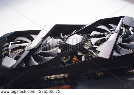 Moscow, Russia: 29 June 2020. Nvidia, Gigabyte, Aorus - Graphics Card. A New Large Video Card For A