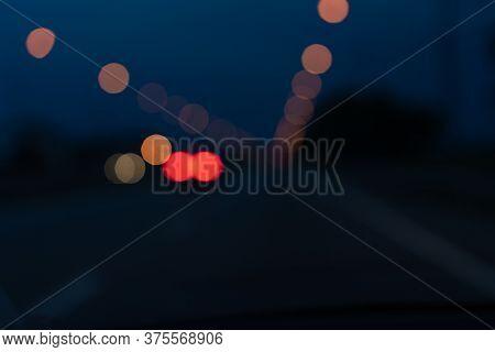 Blurry Glare Of Night Illumination.blurry Glare Of Night Illumination
