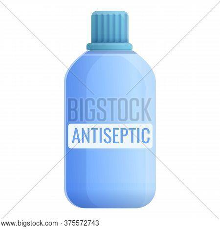 Antiseptic Bottle Icon. Cartoon Of Antiseptic Bottle Vector Icon For Web Design Isolated On White Ba
