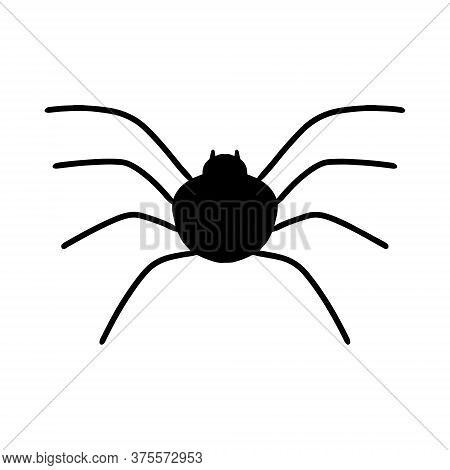 A Doodle-style Spider. A Sketch Of A Tarantula With A Black Outline. Spider Icon. Print For A T-shir
