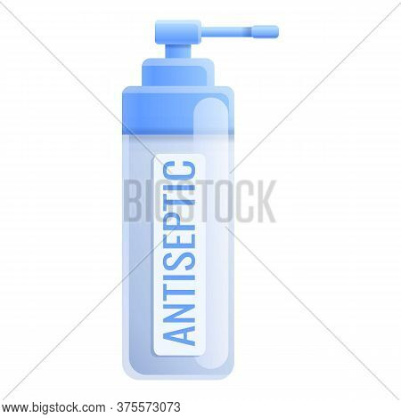 Antiseptic Gel Icon. Cartoon Of Antiseptic Gel Vector Icon For Web Design Isolated On White Backgrou